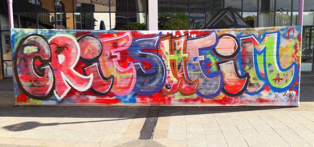 Griesheim Schriftzug als Graffiti