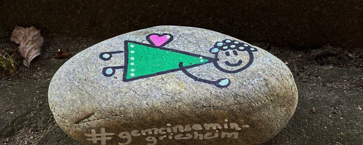 Seid kreativ und lasst uns einander Freude schenken. #dafälltmireinsteinvomherzen #gemeinsamingriesheim