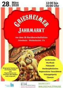 28.03.: Griesheimer Jahrmarkt - ABGESAGT! @ Nachbarschaftsbüro Griesheim